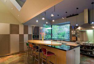 Modern Kitchen with High ceiling, Undermount sink, Quartz countertops, European Cabinets, Stainless Steel, Kitchen island