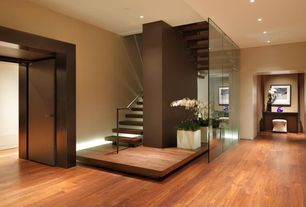 Modern Staircase with Floating stairs, Glass wall