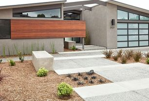 Contemporary Exterior of Home with Concrete floors