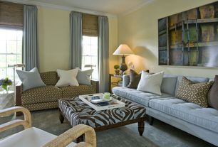 Contemporary Living Room with Convenience Concepts Palm Beach Serving Tray, Carpet, Crown molding