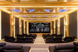 Art Deco Home Theater with Italuce ITLED 3528 600 Waterproof LED Strip Light