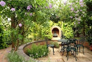 Traditional Patio with Exterior stone patio, Cast iron chair
