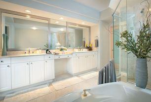 Contemporary Master Bathroom with Kichler chrome rectangular wall mirror 30 inch high