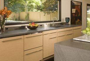 Contemporary Kitchen with Gray quartz countertop, Creative Home White Marble 12 x 18 Pastry Board