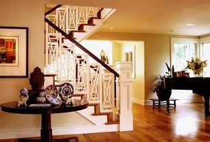Traditional Hallway with Hardwood floors, Oriental Furniture Thai Buddha Head Bust