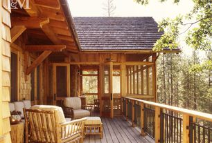 Rustic Deck with Paint, Deck Railing