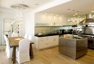 Contemporary Kitchen with Elegant lighting galaxy chrome six-light chandelier with clear royal cut crystals