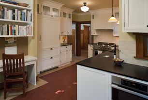 Modern Kitchen with PaperStone in Slate, KitchenCraft Cabinetry - Plymouth in Maple with Alabaster Finish