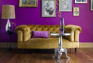 Eclectic Living Room with High ceiling, Aspire chloe end table from wayfair.com, SoHo Chesterfield Fabric Loveseat