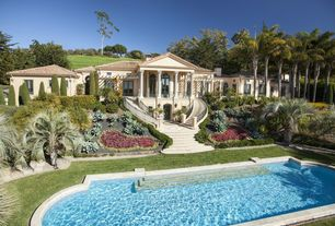 Mediterranean Swimming Pool with French doors, Deck Railing, Other Pool Type, Fence, specialty window