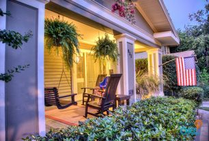 Traditional Porch with Pathway, Porch swing