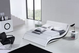 Modern Master Bedroom with Modloft Ludlow Nightstand, Tosh - Modern Nerius Platform Bed