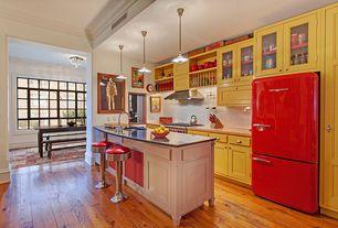 "Contemporary Kitchen with Paint 3, Big Chill retro refrigerators, Regal New Retro Express 26"" Swivel Bar Stool, Paint 1"