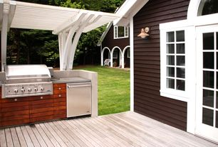 Country Deck with Casement, Outdoor kitchen, Trellis, French doors