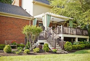 Traditional Deck with Trellis, Casement, Homeplace structures cedar pergola, Deck Railing, Outdoor curtains, Paint 1, Paint