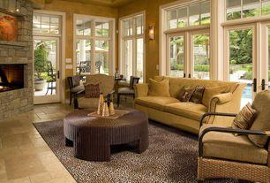 Modern Living Room with Casement, Standard height, Hoku Designs Johannes Premium Damask Sofa, Paint, Fireplace, Wall sconce