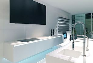 Contemporary Kitchen with One-wall, Kitchen island, Corian counters, European Cabinets, Inset cabinets, Undermount sink