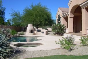 Pool with fence exterior stone floors outdoor kitchen pool with hot