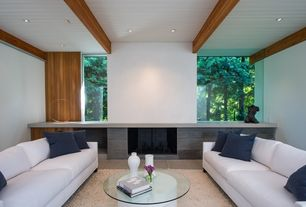Contemporary Living Room with Exposed beam, Verano sofa