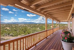 Craftsman Porch with Deck Railing, Wrap around porch