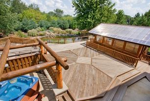 Rustic Deck with Pond
