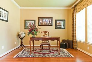 Traditional Home Office with Crown molding, Laminate floors