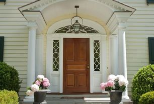 Traditional Front Door with Transom window