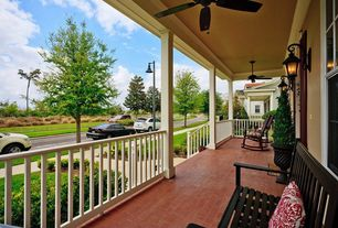 Country Porch with exterior brick floors, Pathway, Screened porch