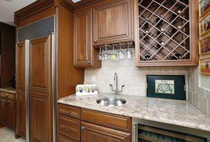 Traditional Bar with Crown molding, Standard height