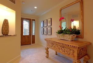 Traditional Hallway with Standard height, Concrete tile