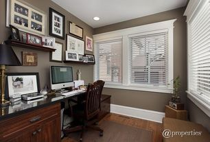 Traditional Home Office with Laminate floors