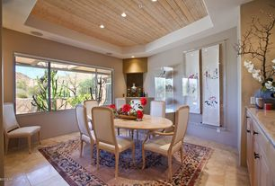 Asian Dining Room with Star international glacier dining table, Carpet, American drew grand isle arm chair