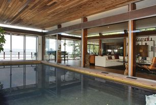 Rustic Swimming Pool with Indoor pool