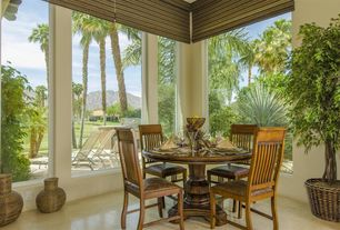 Traditional Dining Room with exterior tile floors, Screened porch, Outdoor kitchen
