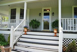 Cottage Front Door with French doors, Transom window