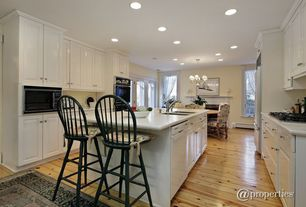 "Traditional Kitchen with Breakfast nook, International Concepts Unfinished Wood 24"" Swivel Bar Stool, Undermount sink"