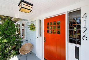Contemporary Front Door with Z gallerie staghorn fern on wood, Rejuvenation small mail slot with interior frame