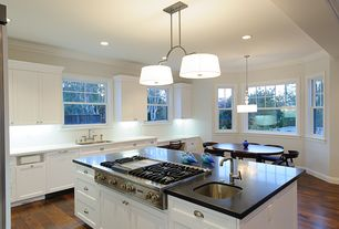 Traditional Kitchen with Breakfast nook, Simple Marble, Pendant light, Soapstone counters, Simple marble counters, One-wall