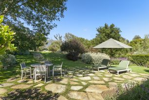 Traditional Patio with Pathway, exterior stone floors