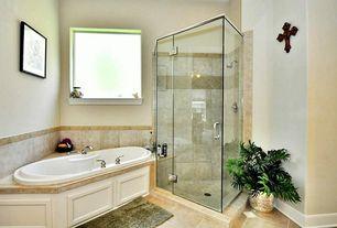 "Eclectic Master Bathroom with frameless showerdoor, Hydro Systems Designer Carli 60"" x 36"" Whirlpool Tub, Master bathroom"