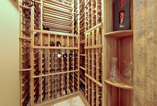 Traditional Wine Cellar with Built-in bookshelf, Standard height
