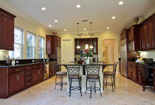 Modern Kitchen with Raised panel, Pendant light, Sea Gull Lighting Windgate 1 Light Mini-Pendant, Breakfast bar, High ceiling