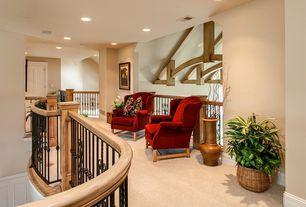 Craftsman Hallway with Carpet