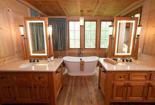 Craftsman Master Bathroom with Randolph Morris 70-Inch Acrylic Double Slipper Pedestal Tub - Rim Drillings