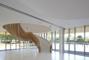 Contemporary Staircase with Tetrarc architects school of arts in saint herblain, france, Columns, Laminated timber