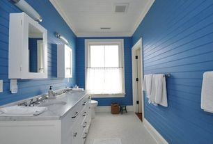 Cottage Full Bathroom with Decolav Surface-Mount Medicine Cabinet in White