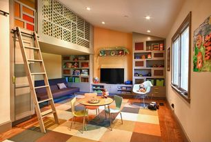 Contemporary Playroom with Mid-century modern shell chair, Una side chair