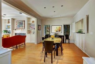 Modern Dining Room with Laminate floors