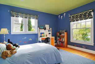 Modern Kids Bedroom with Art desk, Mural, Laminate floors