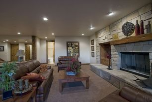 Traditional Basement with Paint1, Rossu Large Bottle Vase, CARVED WOOD MEDALLION ON STAND, Simple Rustic Coffee Table